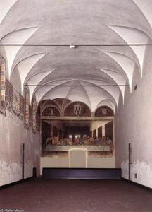 Leonardo Da Vinci - The Refectory with the Last Supper after restoration