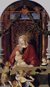 Lucas Van Leyden - Virgin and Child with Ang..