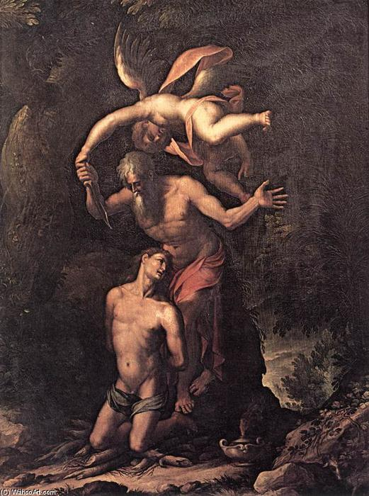 Sacrifice of Isaac, 1596 by Jacopo Ligozzi (1547-1627, Italy) | Museum Art Reproductions Jacopo Ligozzi | ArtsDot.com