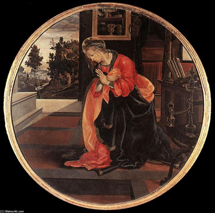 Virgin from the Annunciation, 1483 by Filippino Lippi (1457-1504, Italy) | Oil Painting | ArtsDot.com