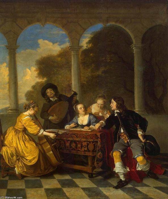 Concert, Oil On Canvas by Jacob Van Loo (1614-1670, Netherlands)