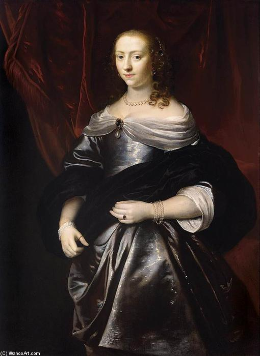 Portrait of Lucretia Boudaen by Jacob Van Loo (1614-1670, Netherlands) | ArtsDot.com