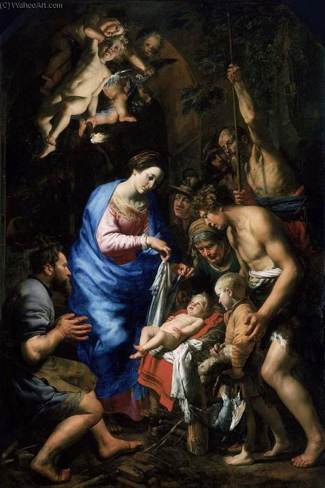 Adoration of the Shepherds, 1620 by Theodoor Van Loon (1581-1667, Germany) | ArtsDot.com