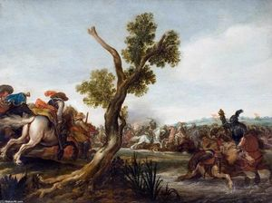 Jan The Younger Martszen - Battle Scene