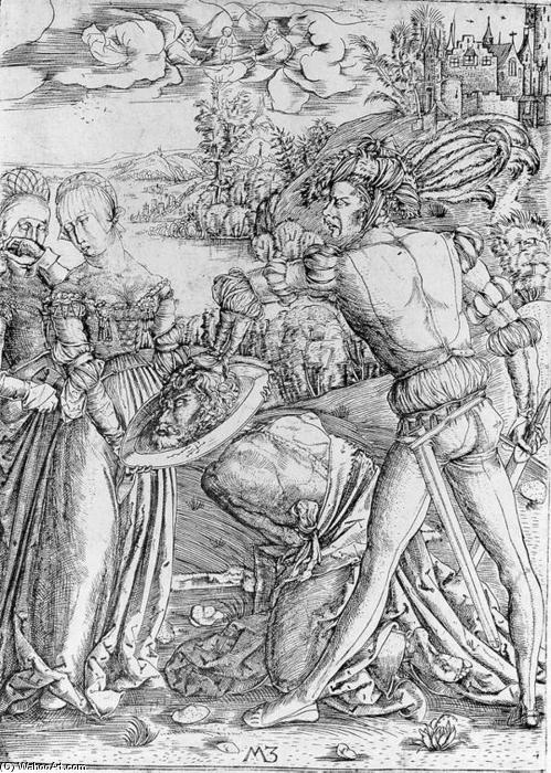The Beheading of St John the Baptist, Engraving by Master M Z