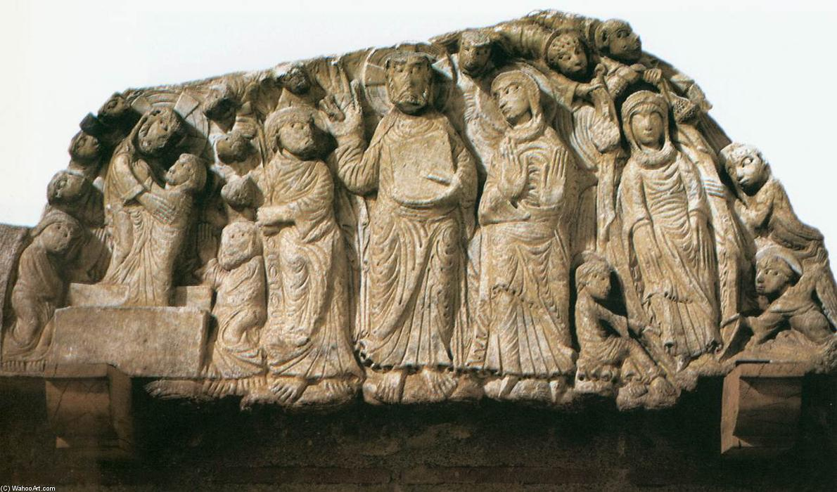 Tympanum, 1150 by Master Of Cabestany (1130-1180, Italy) | Museum Quality Reproductions | ArtsDot.com