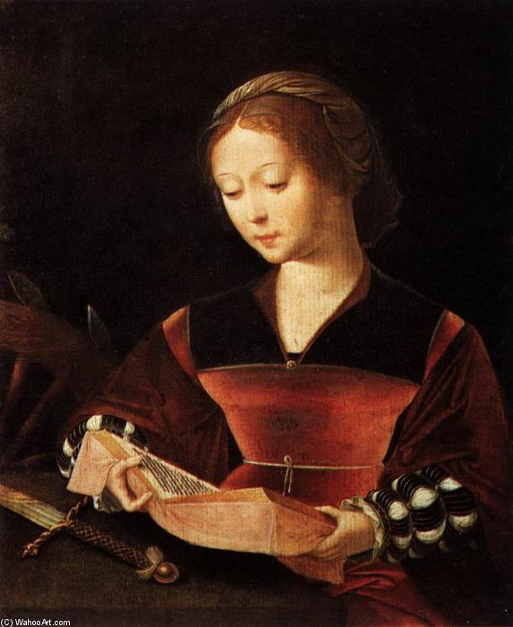 St Catherine, 1530 by Master Of Female Half Lengths | Paintings Reproductions Master Of Female Half Lengths | ArtsDot.com