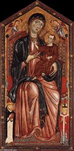 Master Of Magdalen - Virgin and Child Enthroned