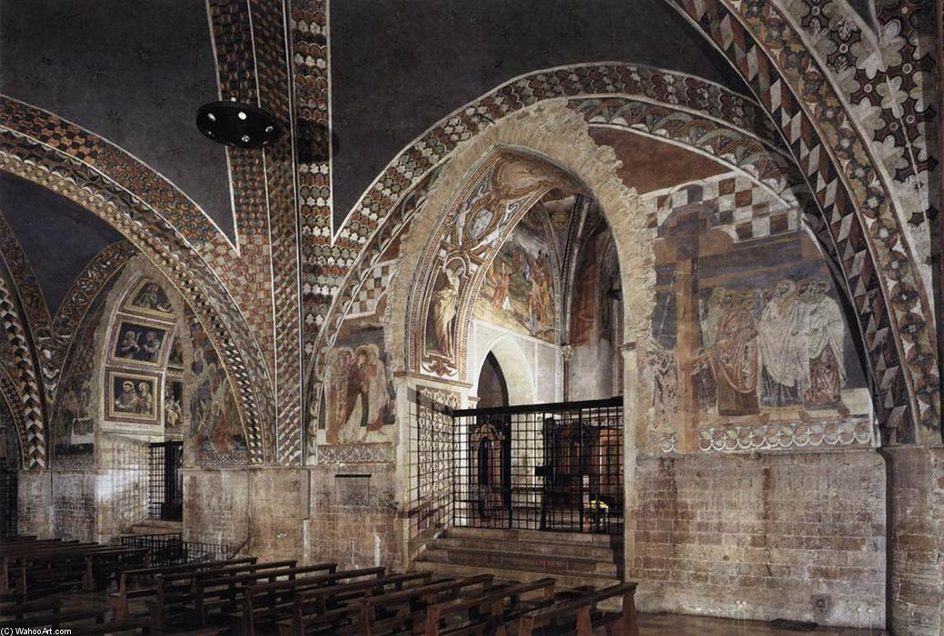 View of the nave of the Lower Church by Master Of St Francis