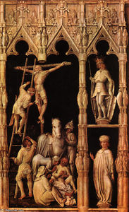 Master Of The Tegernsee Passion - Crucifixion, detail from right side