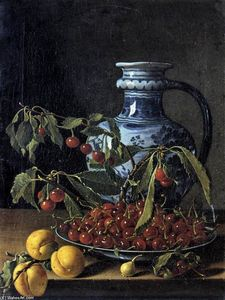 Luis Egidio Meléndez - Still-Life with Fruit and..