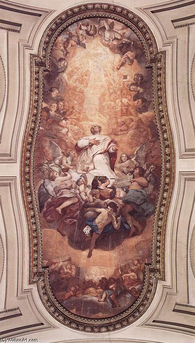 Glory of St Eusebius, Frescoes by Anton Raphael Mengs (1728-1779, Czech Republic)