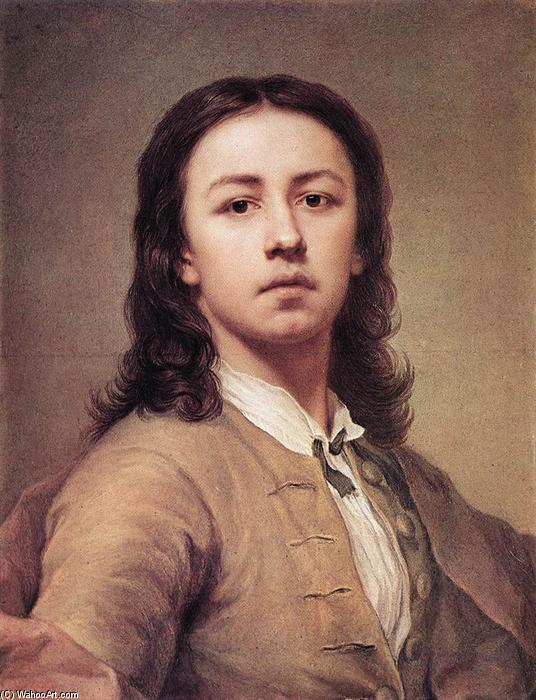 Self-Portrait, 1744 by Anton Raphael Mengs (1728-1779, Czech Republic) | Art Reproduction | ArtsDot.com