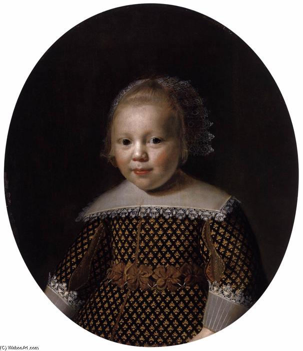 Portrait of a Young Boy, Oil by Paulus Moreelse (1571-1638, Netherlands)