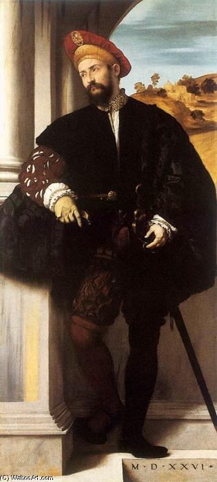 Portrait of a Gentleman, Oil On Canvas by Alessandro Bonvicino (Moretto Da Brescia) (1498-1554, Italy)
