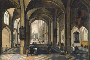 Peeter The Elder Neeffs - Interior of a Gothic Cathedral