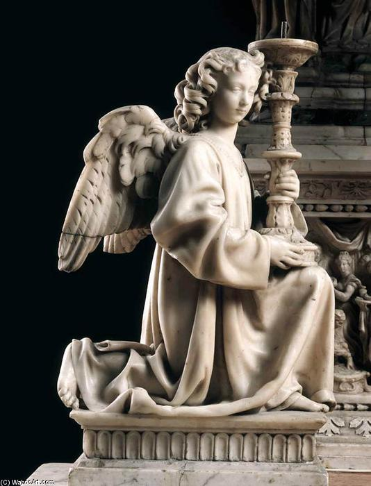 Tomb of St Dominic: Angel Holding a Candle, Marble by Niccolò Dell' Arca (1438-1494, Italy)