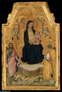Niccolò Di Buonaccorso - Virgin and Child Enthroned wit..