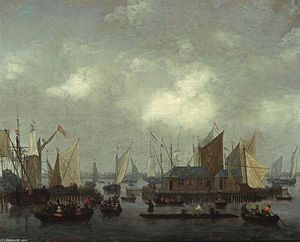Reiner Nooms - Amsterdam: Shipping on the Ij