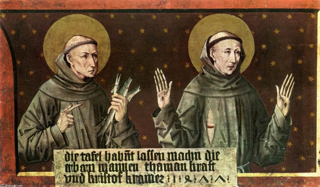 St Anthony of Padua and St Francis of Assisi, 1477 by Friedrich Pacher (1474-1508, Italy) | Museum Quality Reproductions | ArtsDot.com