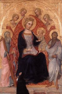 Paolo Di Giovanni Fei - Virgin and Child Enthroned