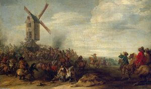 Joseph Parrocel - Battle by the Windmill