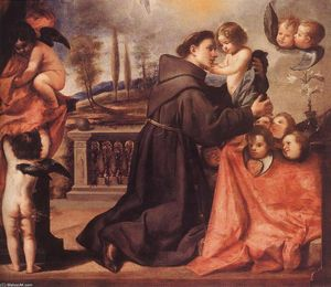 Antonio Pereda Y Salgado - St Anthony of Padua with ..