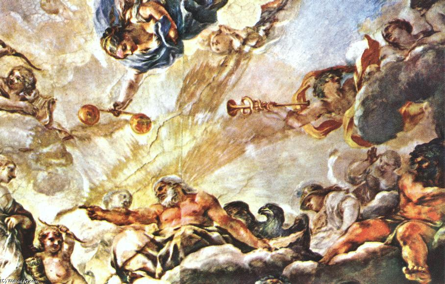 Apotheose of Aeneas (detail), Frescoes by Pietro Da Cortona (1596-1669, Italy)