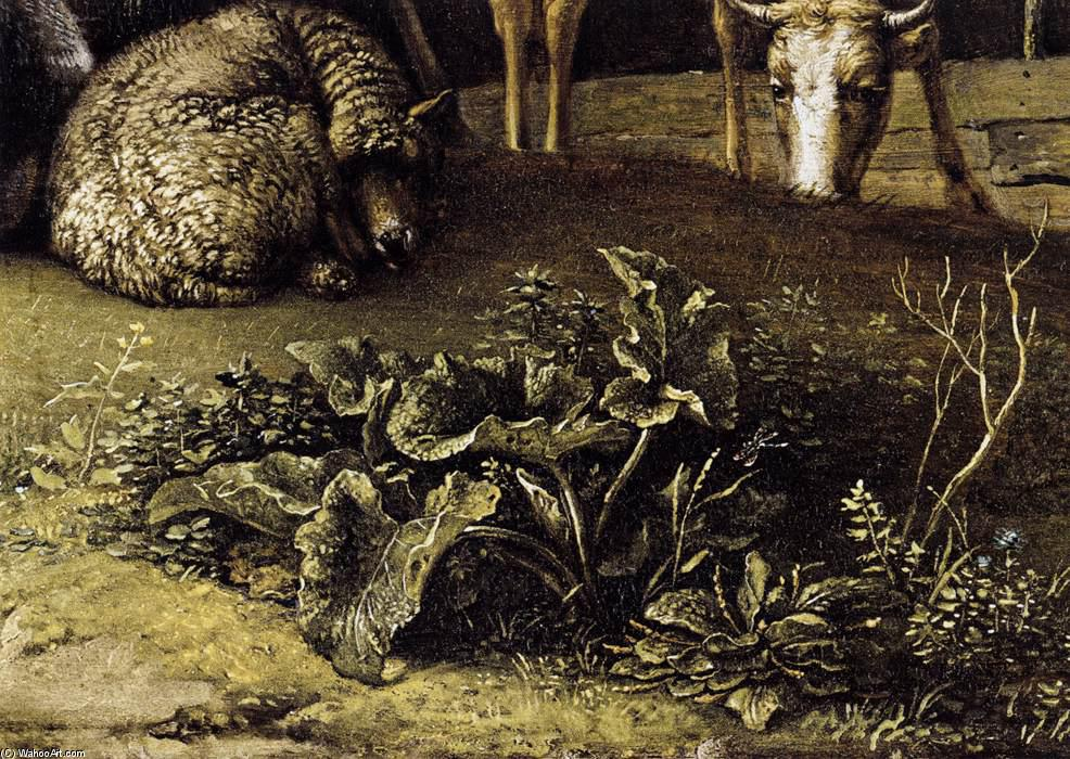 A Husbandman with His Herd (detail), Oil by Paulus Potter (1625-1654, Netherlands)