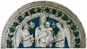 Luca Della Robbia - Madonna and Child between Angels