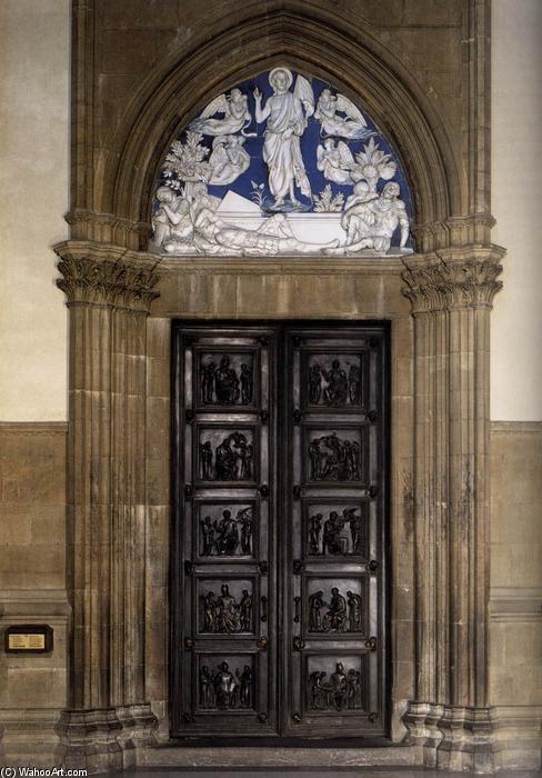 North Sacristy Doors with the Resurrection, 1442 by Luca Della Robbia (1399-1482, Italy) | Art Reproduction | ArtsDot.com