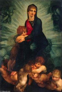 Rosso Fiorentino - Madonna and Child with Pu..