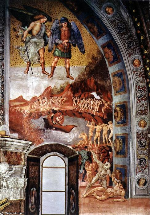 The Damned Being Plunged into Hell, Frescoes by Luca Signorelli (1445-1523, Italy)