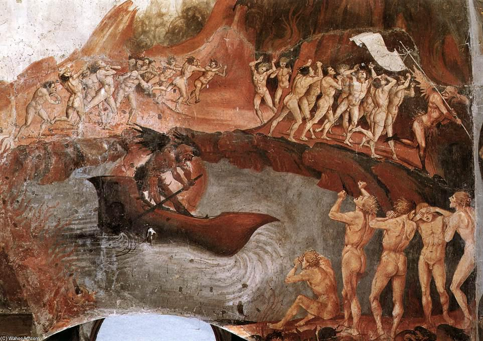 The Damned Being Plunged into Hell (detail), Frescoes by Luca Signorelli (1445-1523, Italy)