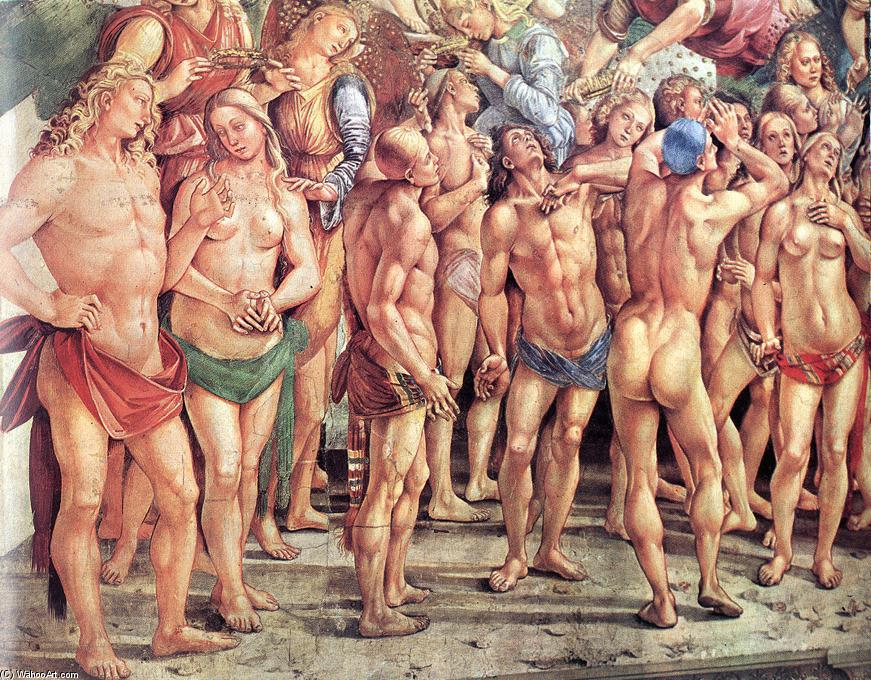 The Elect (detail), Frescoes by Luca Signorelli (1445-1523, Italy)