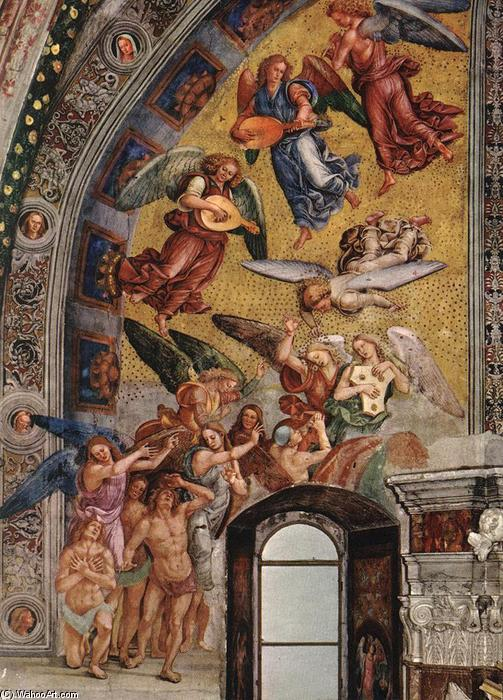 The Elect Being Called to Paradise, Frescoes by Luca Signorelli (1445-1523, Italy)