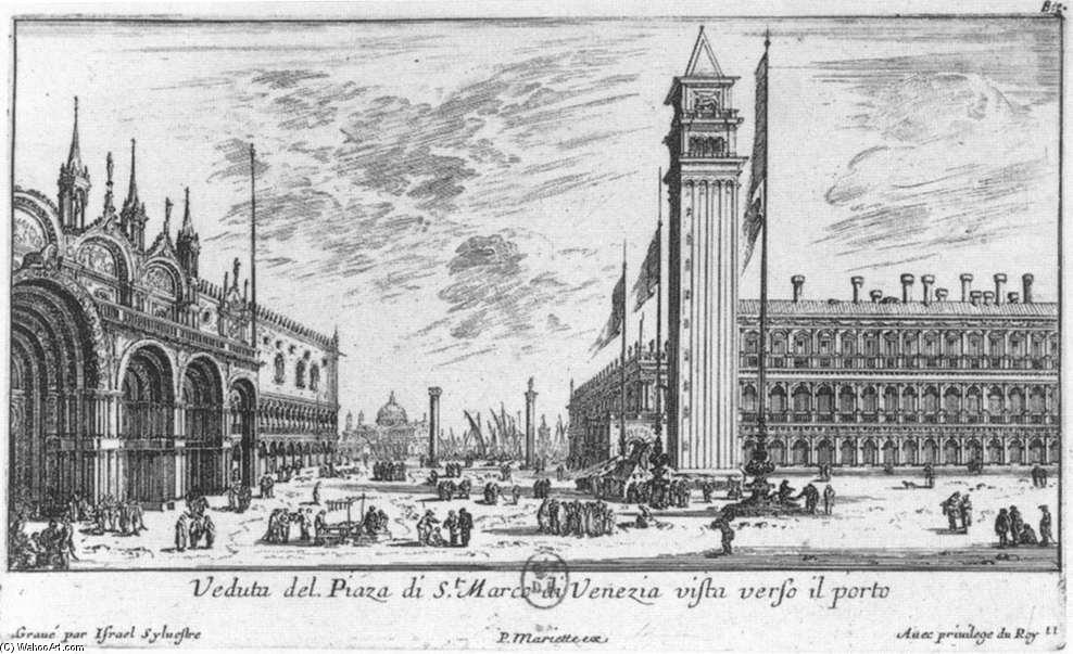 Piazzetta from the Piazza San Marco by Israël Silvestre (1621-1691, France) | Museum Art Reproductions | ArtsDot.com