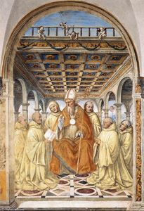 Il Sodoma (Giovanni Antonio Bazzi) - The Confirmation of the Olivetan Order by the Bishop of Arezzo