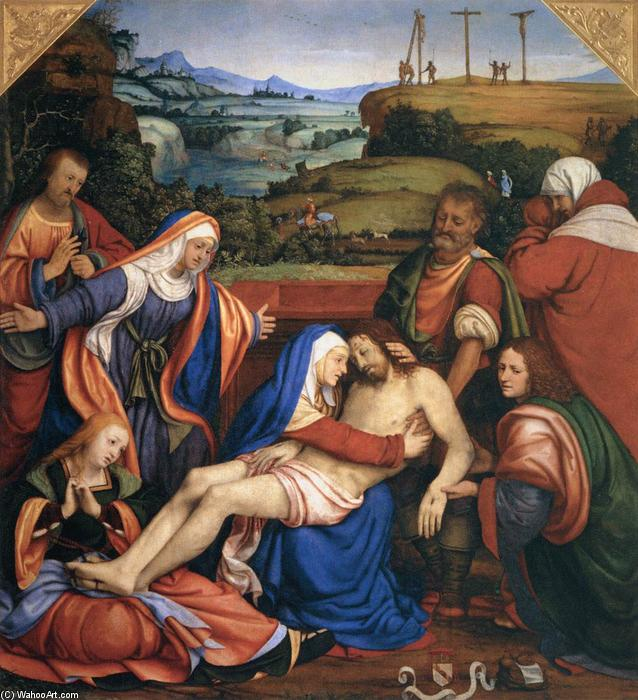 Lamentation over the Dead Christ, 1509 by Andrea Solario (1460-1524, United Kingdom) | Museum Quality Reproductions | ArtsDot.com