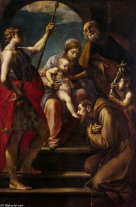 Alessandro Tiarini - Holy Family with Saints