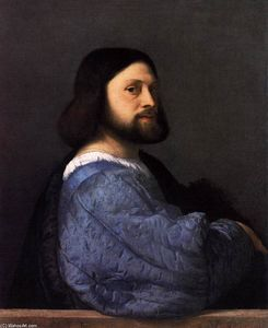 Tiziano Vecellio (Titian) - Man with the Blue Sleeve