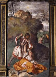 Tiziano Vecellio (Titian) - The Miracle of the Jealous Husband