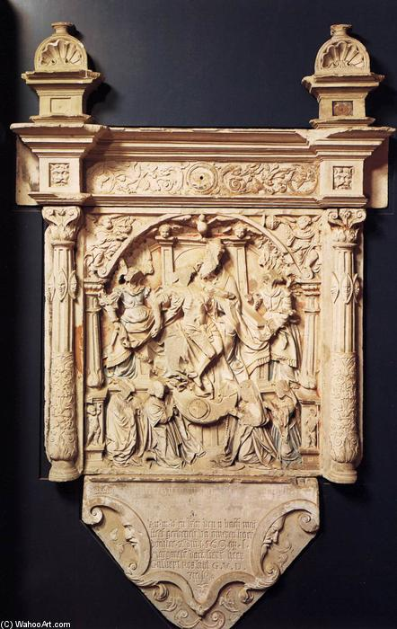 Order Reproductions | Ros Family Epitaph, 1550 by Arnt Van Tricht (1530-1570, Netherlands) | ArtsDot.com