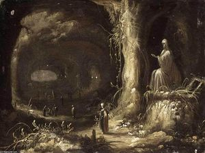Rombout Van Troyen - Interior of a Grotto