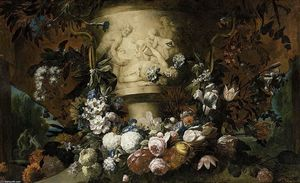 Gaspar Pieter The Younger Verbruggen - Garland of Flowers