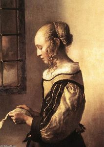 Jan Vermeer - Girl Reading a Letter at an Open Window (detail)