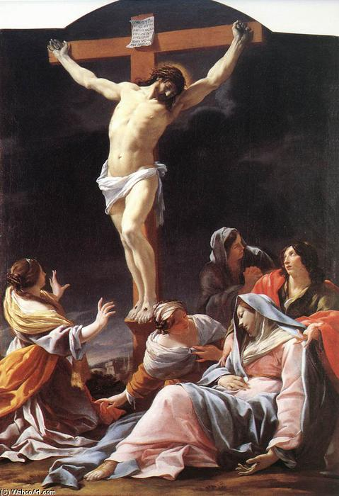 Crucifixion, Oil On Canvas by Simon Vouet (1590-1649, France)