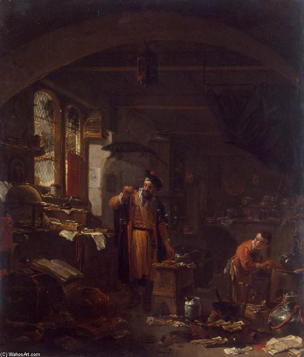 An Alchemist, Oil On Panel by Thomas Wijck (1616-1677, Netherlands)