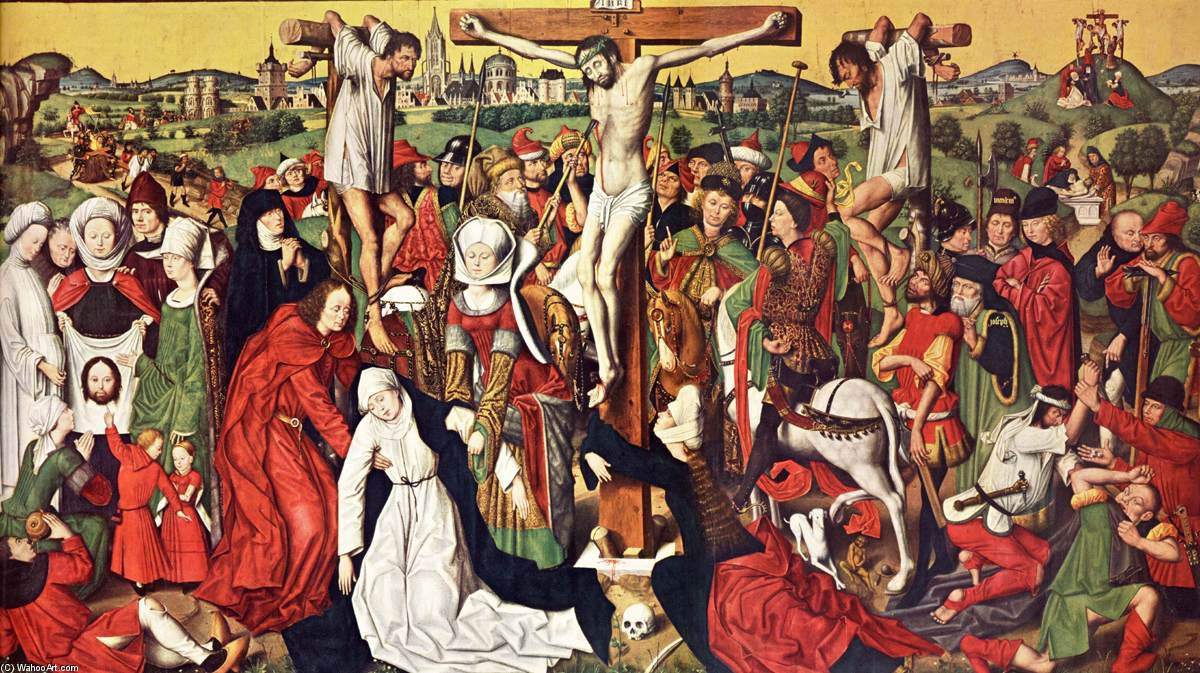 Crucifixion Altar, Panel by Derick Baegert (1440-1515, Germany)