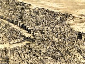 Jacopo De Barbari - Plan of Venice (detail)